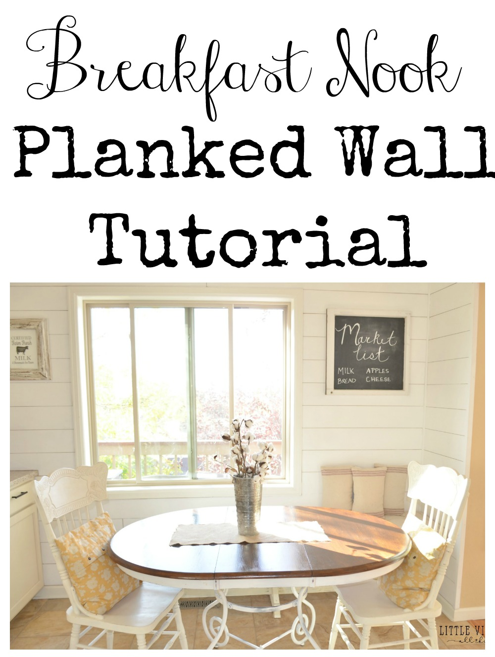 Breakfast Nook Planked Wall Tutorial