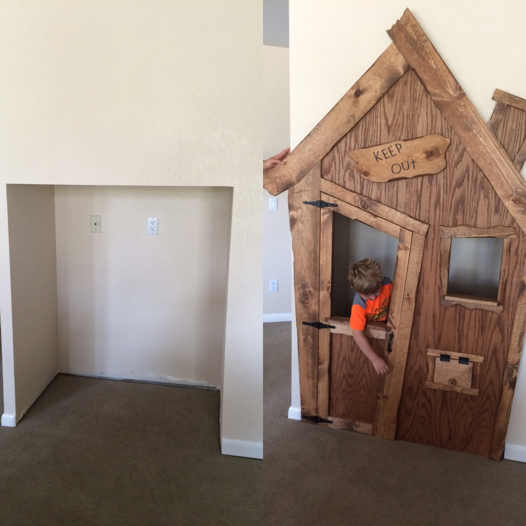 Indoor Playhouse DIY Project - Little Vintage Nest