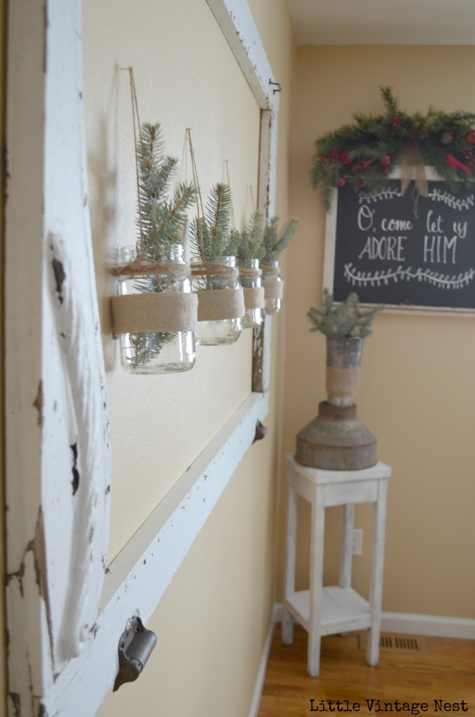 Little Vintage Nest Christmas Tour Dining Room Chalkboard