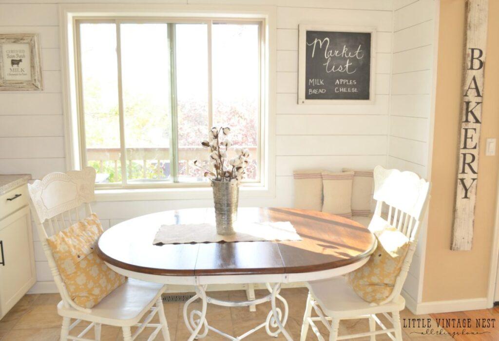 DIY Bakery Sign Tutorial and Breakfast Nook