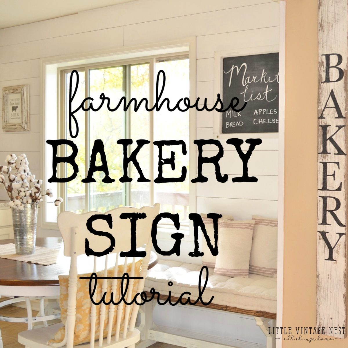 DIY Bakery Sign Tutorial Little Vintage Nest