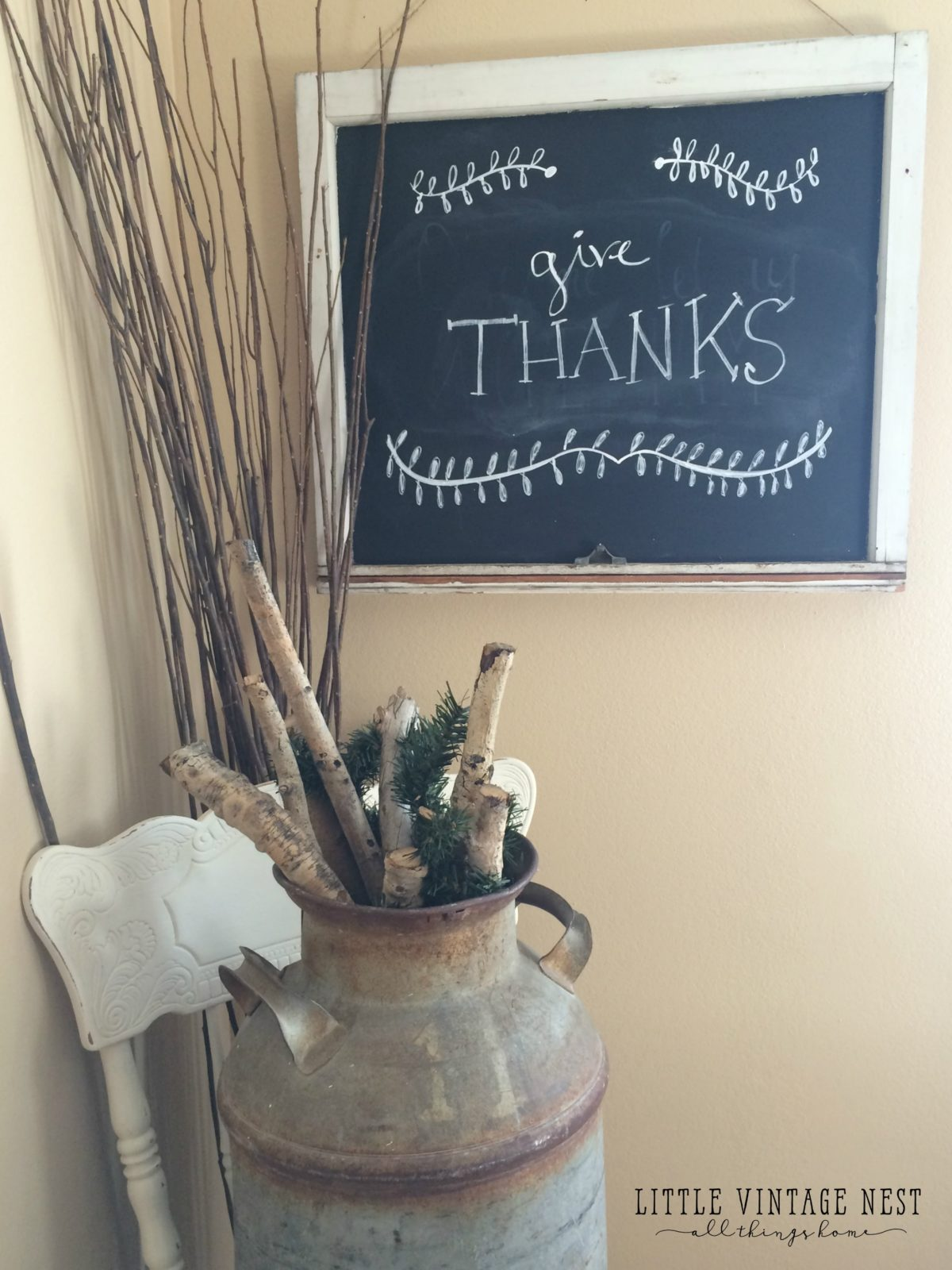 Easy DIY Chalkboard from an old window