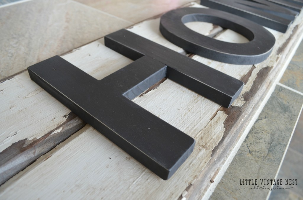 DIY Rustic Home Sign