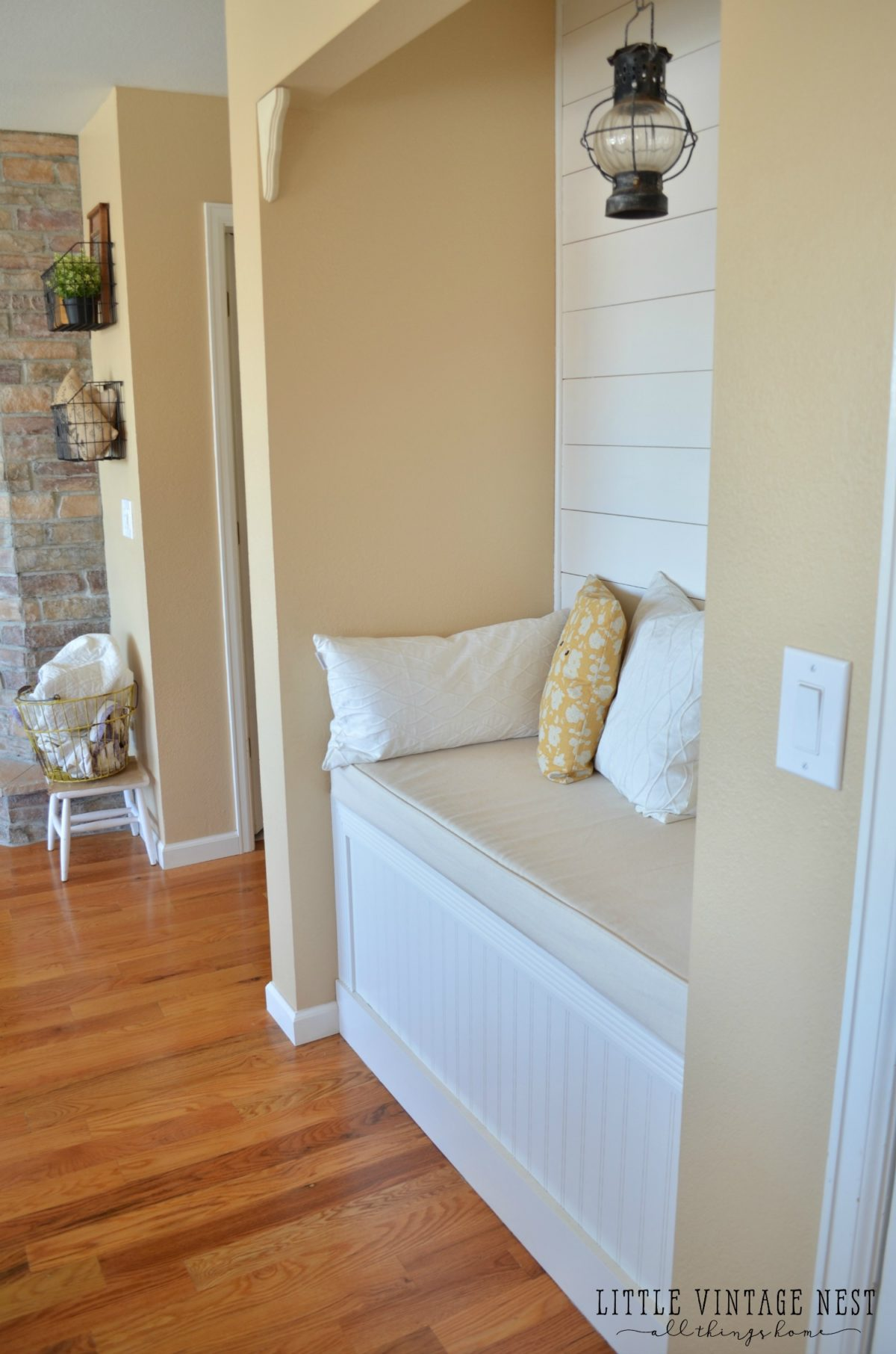Reading Nook with Planked Walls