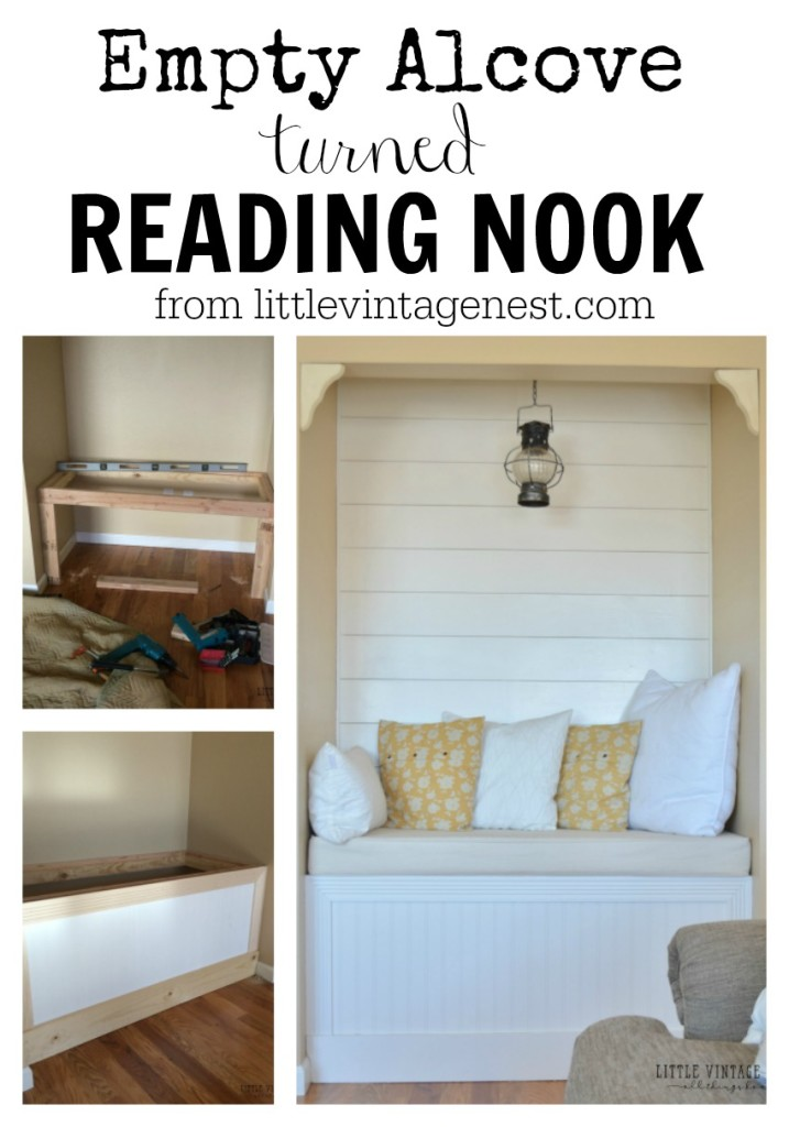 Reading Nook with Planked Wall from Little Vintage Nest
