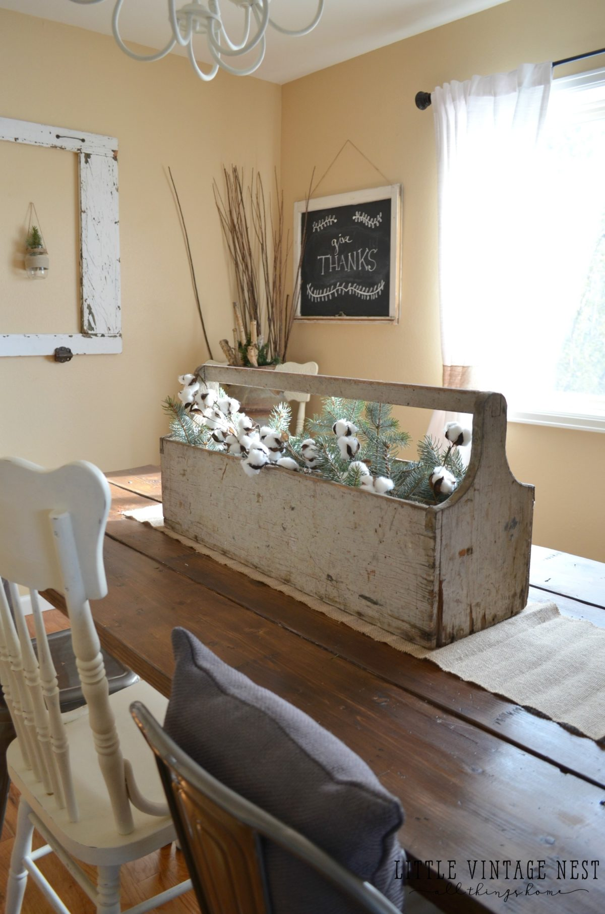 Toolbox In Dining Room Vintage Centerpiece
