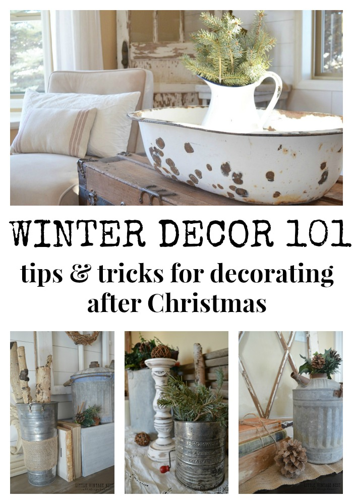 Delightful Simple Winter Decorating Tips U0026 Tricks From Little Vintage Nest