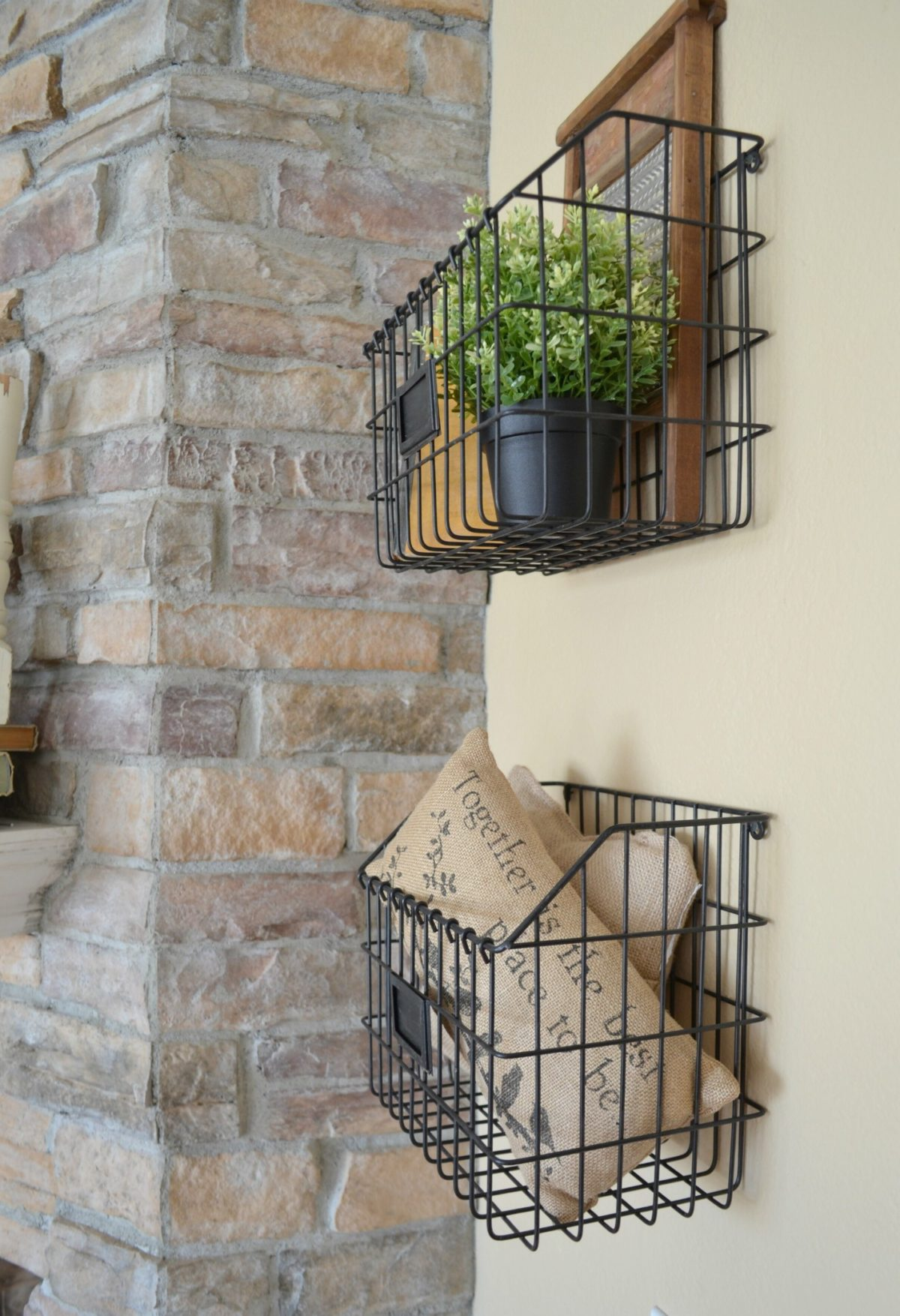 Farmhouse Style 101: Wire Baskets