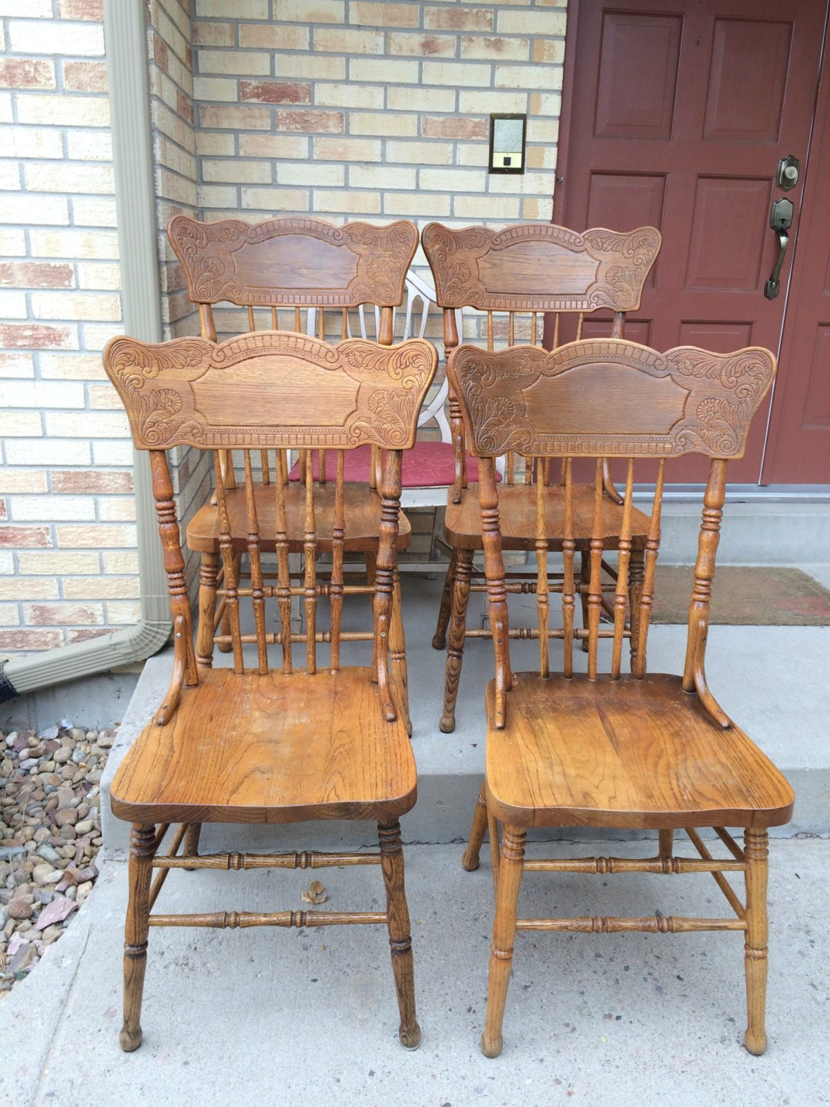 Friday Flip: Farmhouse Chairs Before