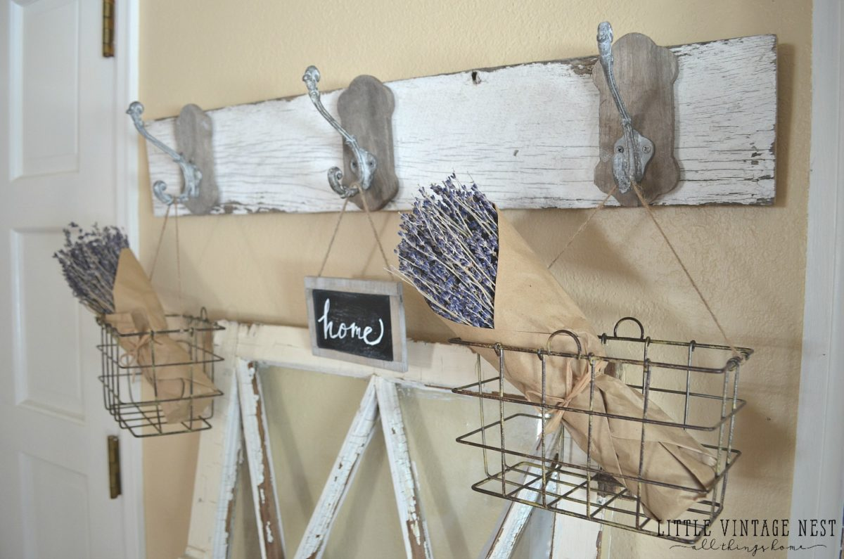 Wire Wall Hanging Baskets farmhouse style: decorating with wire baskets - little vintage nest