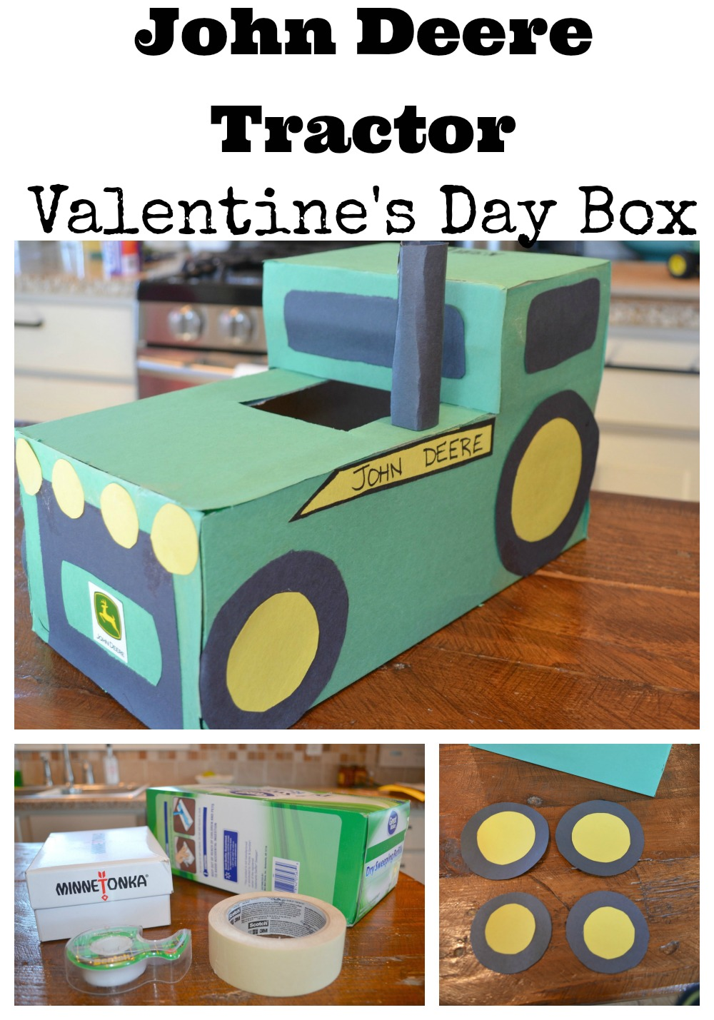 Easy John Deer Tractor Valentine's Day Box
