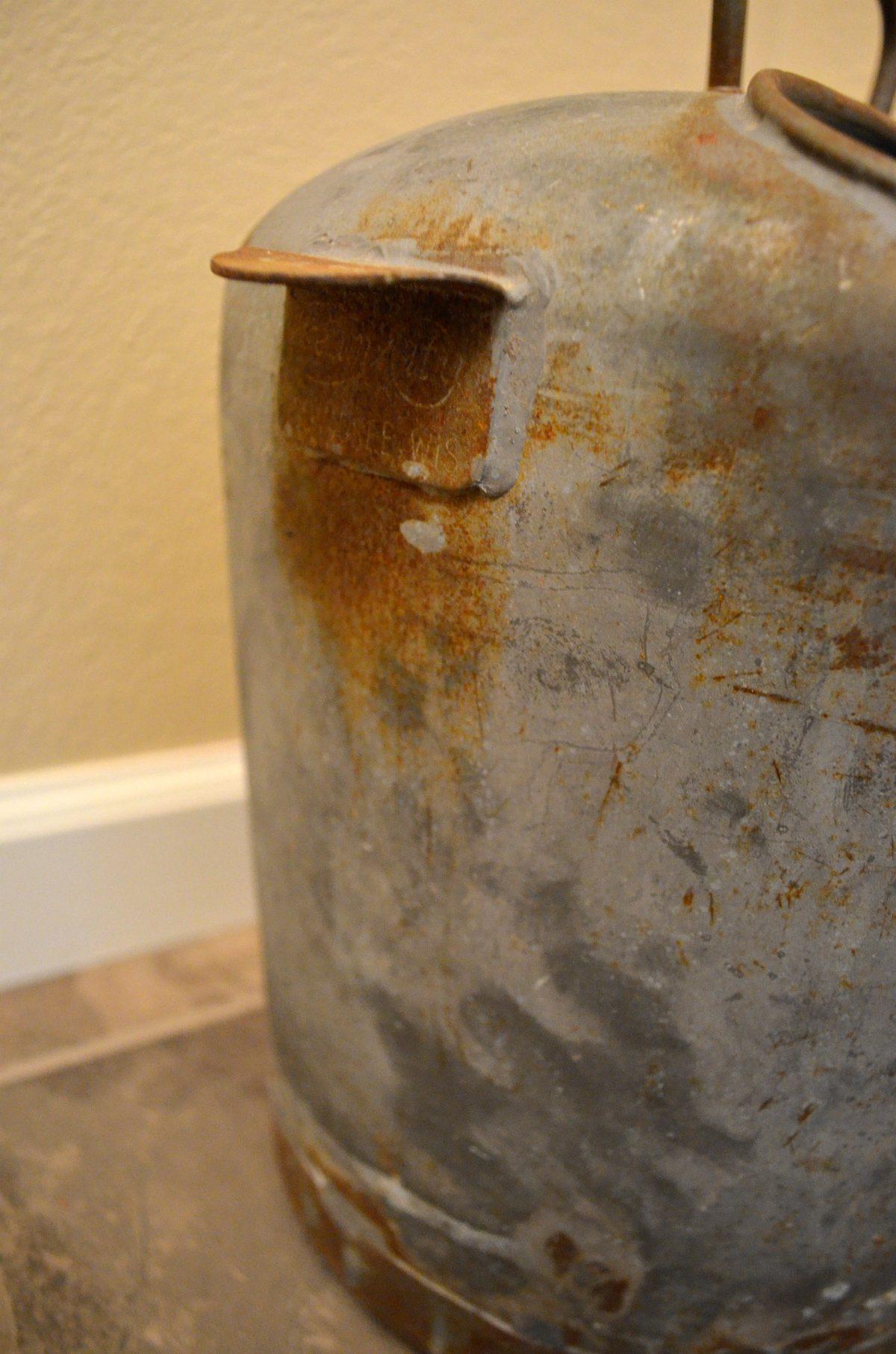 Farmhouse Bathroom::Cream City Can for Toilet Paper