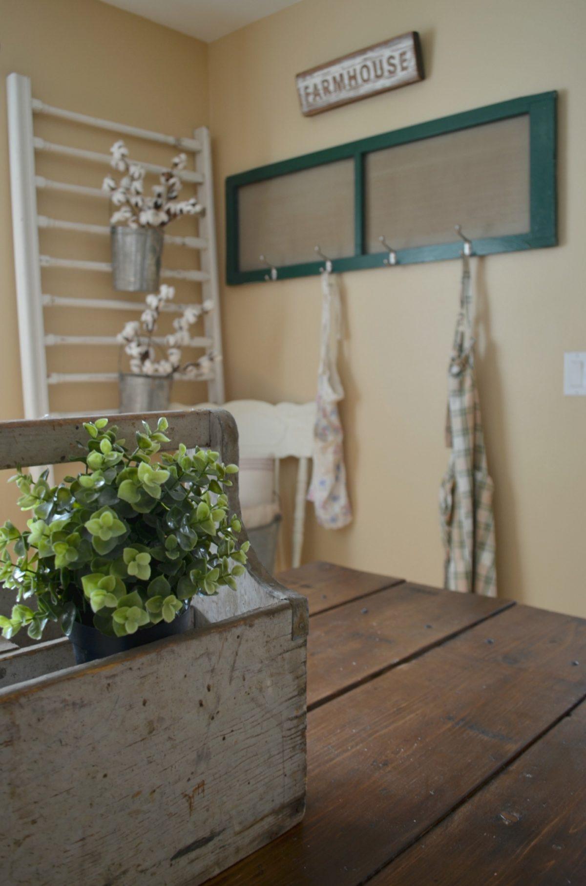Spring Home Tour Farmhouse Decor and Vintage Toolbox