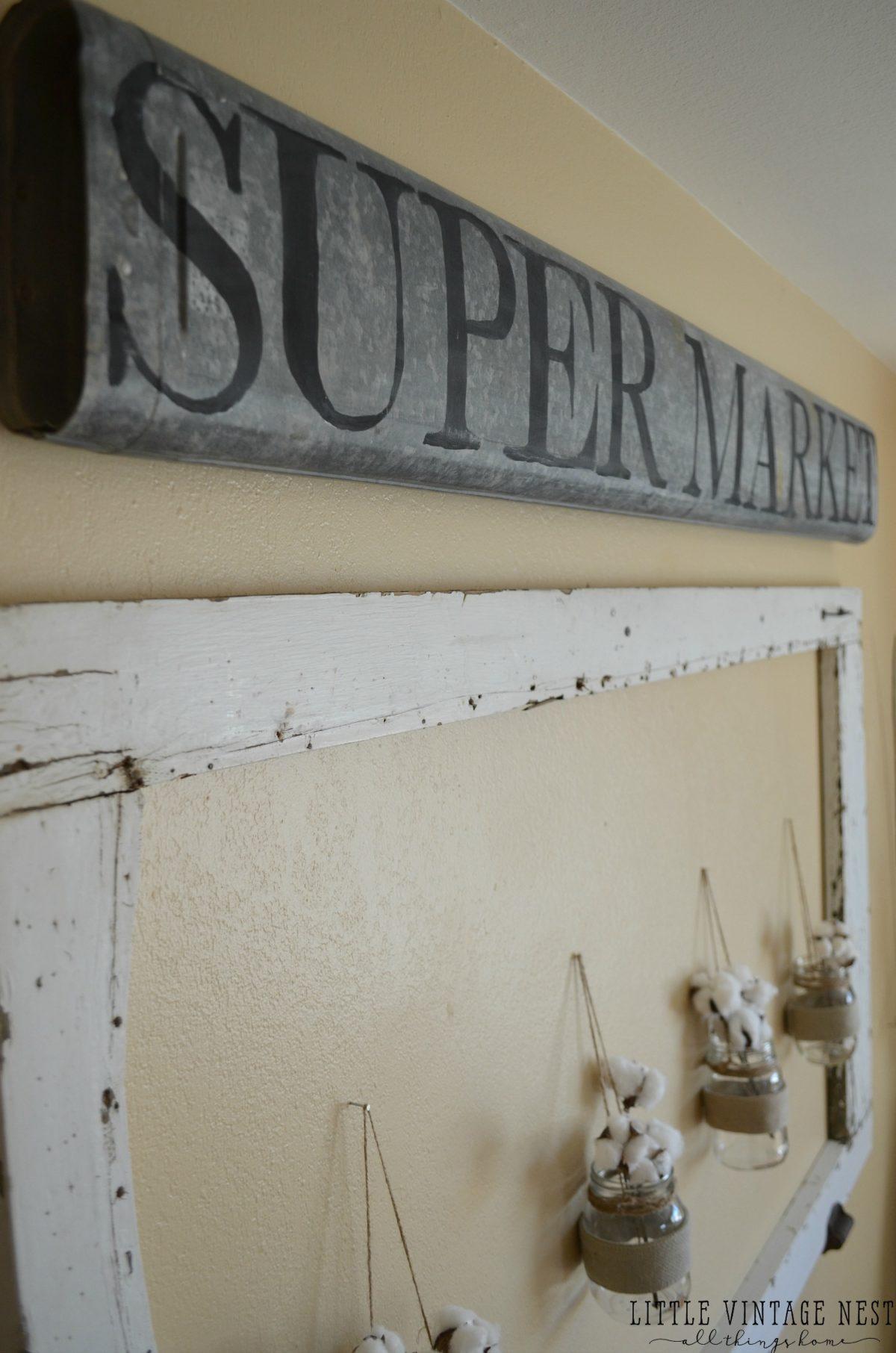 Vintage Supermarket Sign