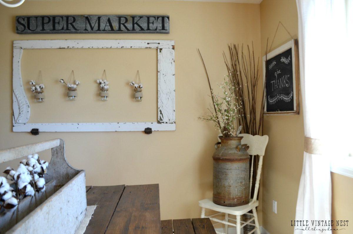 Fast and Easy Vintage Super Market Sign DIY