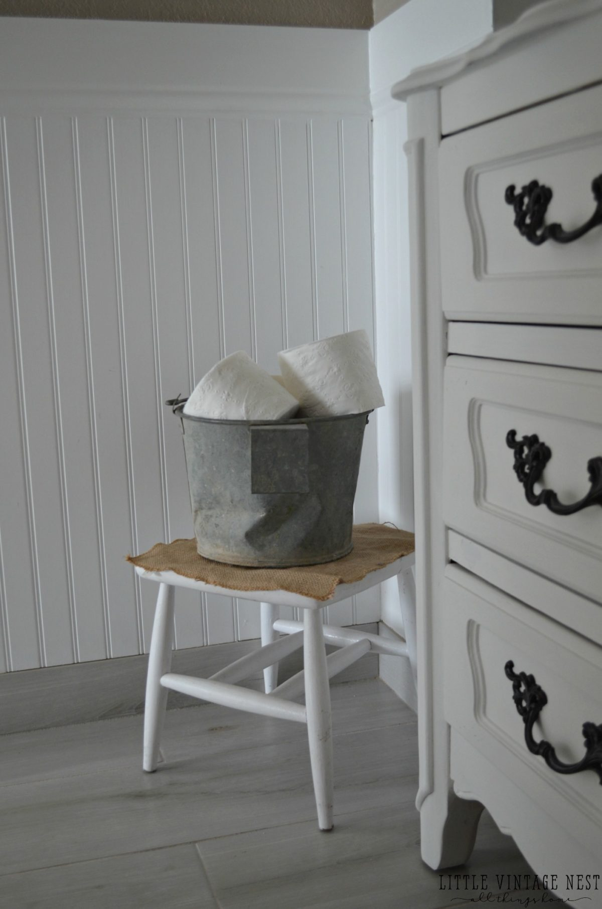 Farmhouse Bathroom Decor Toilet Paper Bucket