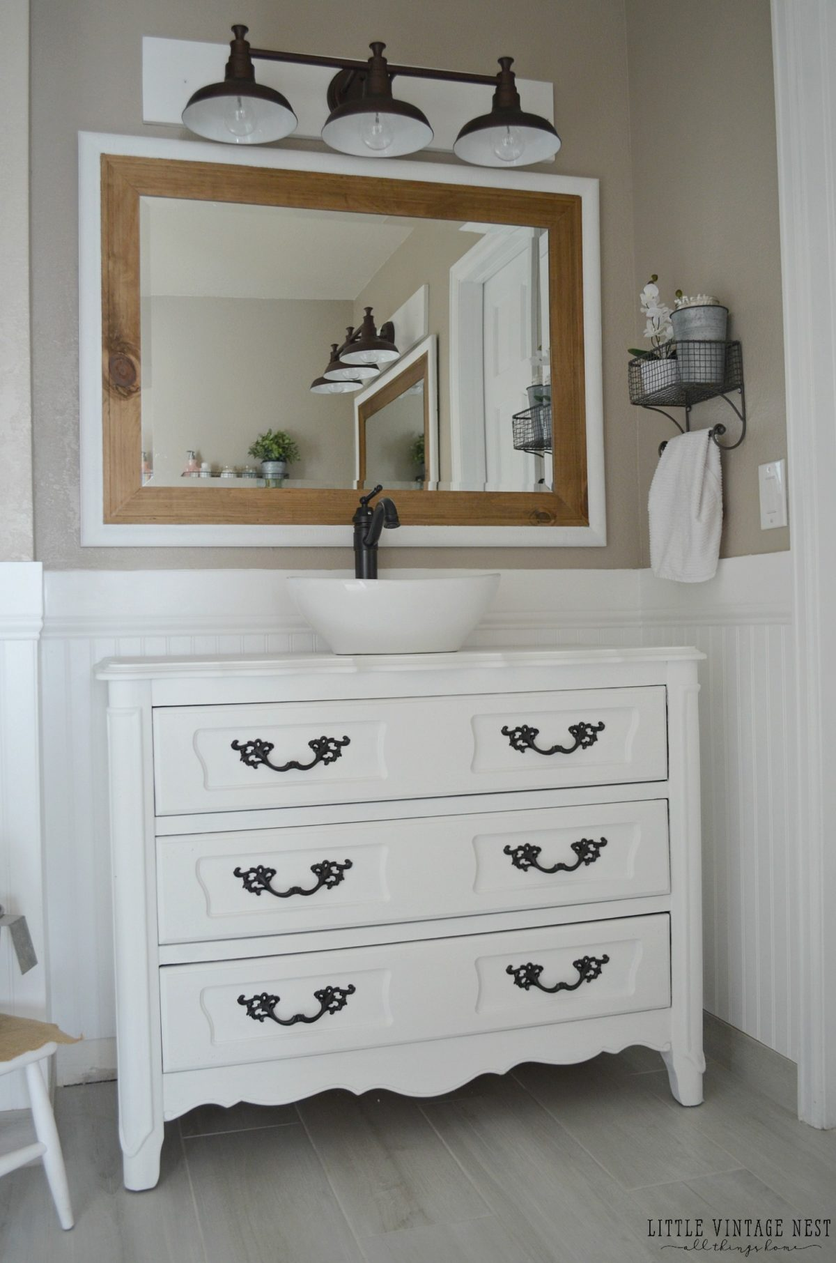 Bathroom Vanity Farmhouse farmhouse master bathroom reveal - little vintage nest
