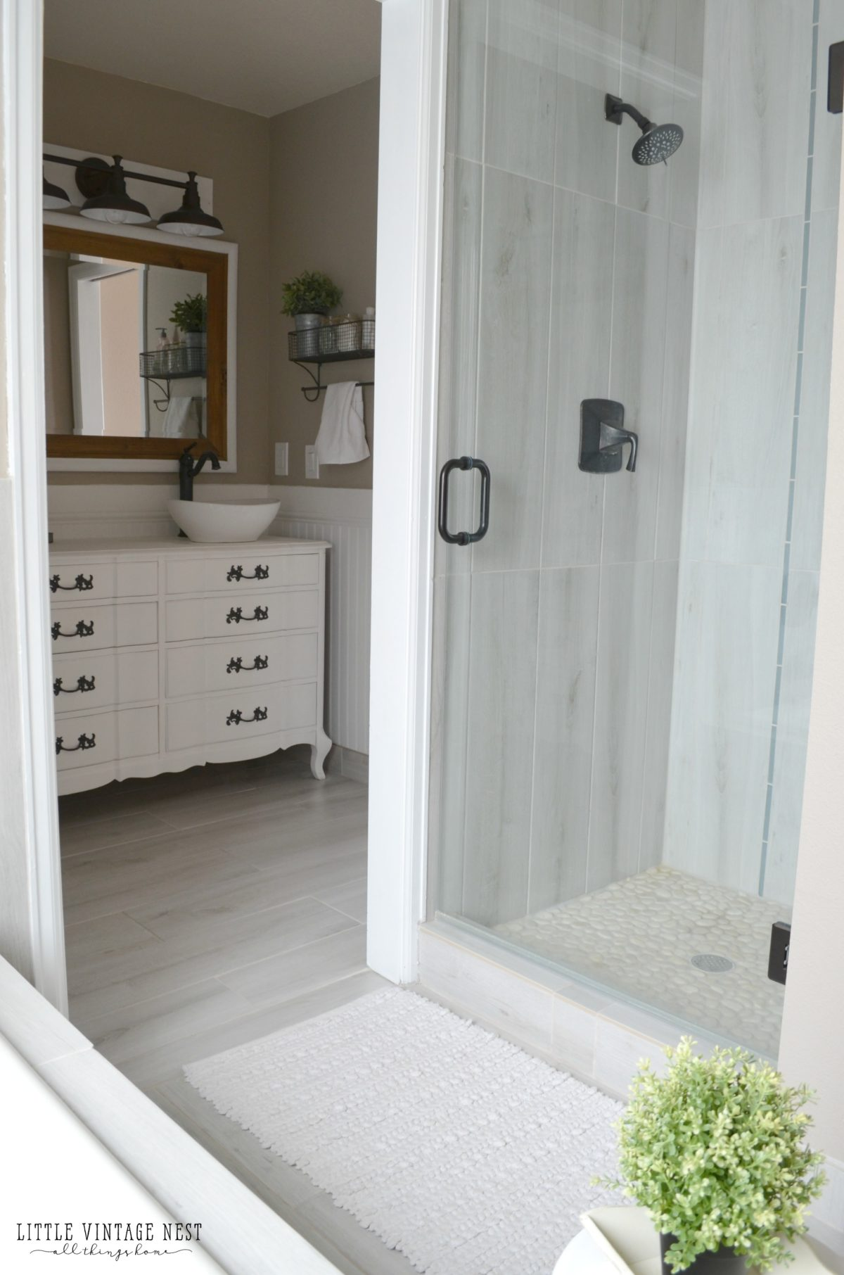 Farmhouse Bathroom and Euroglass Shower