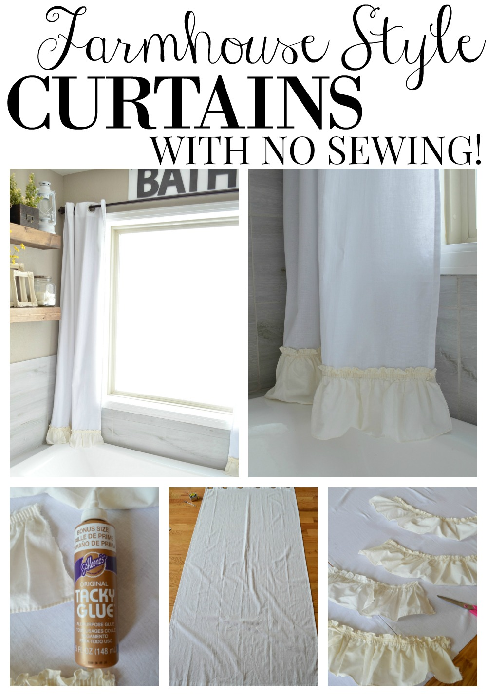 Farmhouse Style Curtains With No Sewing