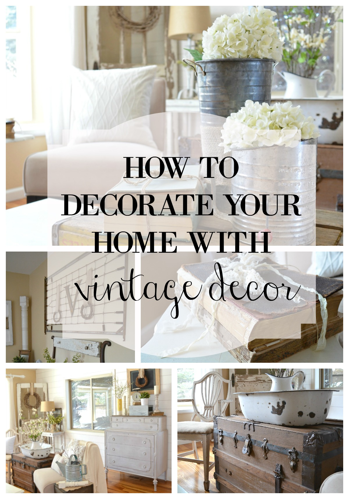 How to decorate with vintage decor little vintage nest - Creative decoration ideas for home without ripping you off ...
