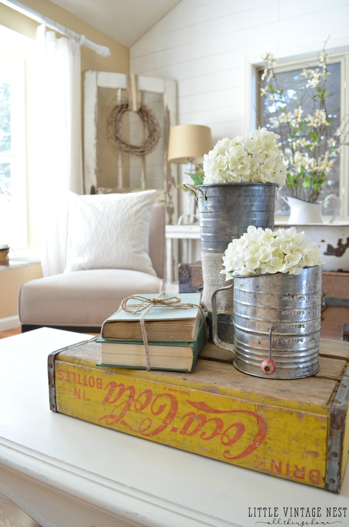 How to Decorate with Vintage Decor Coke Crate