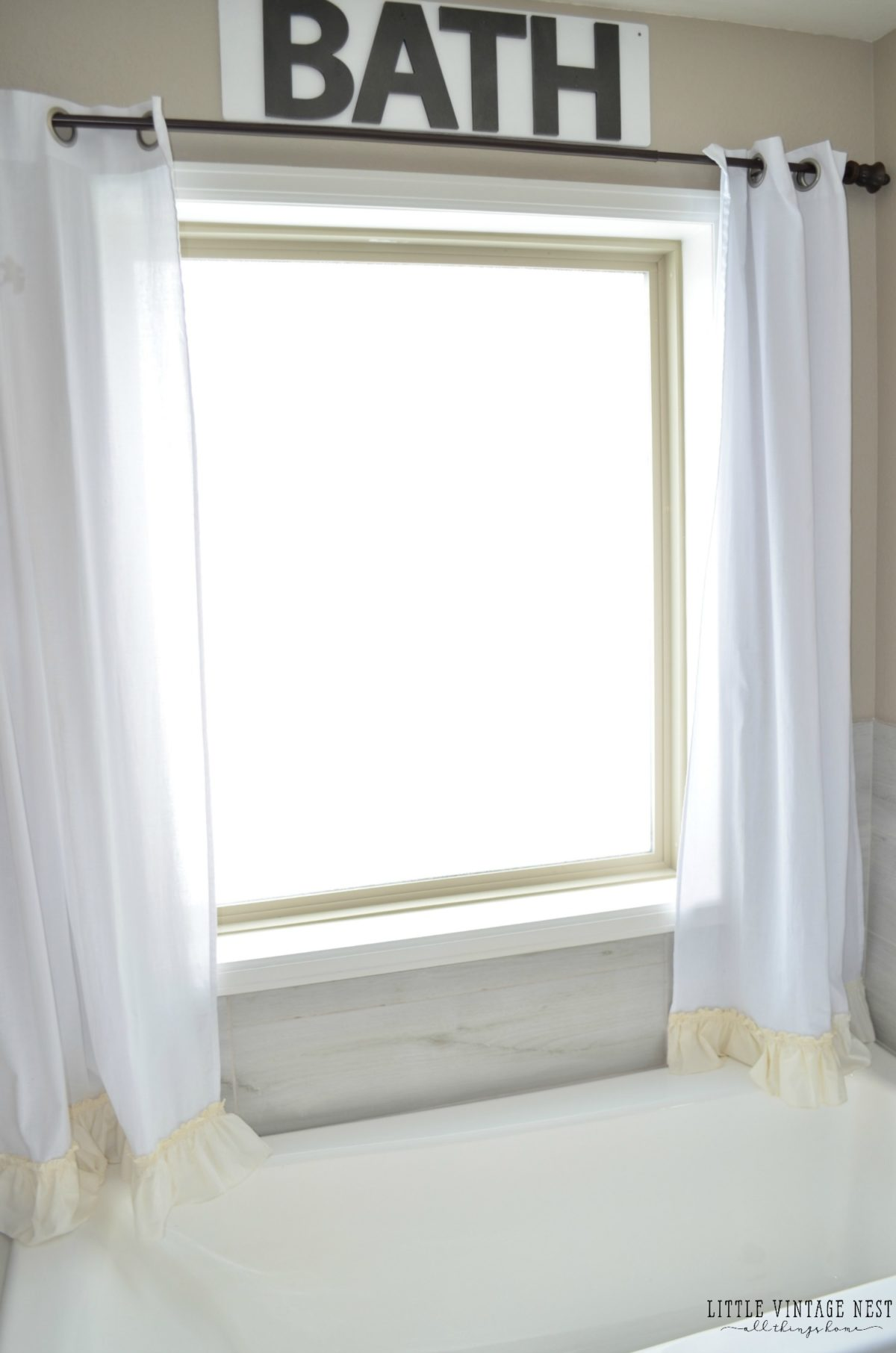 New No Sew Farmhouse Curtains - Little Vintage Nest PQ86