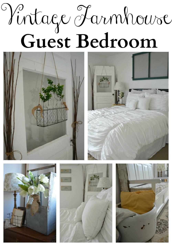 Vintage inspired guest bedroom little vintage nest for Farmhouse guest bedroom
