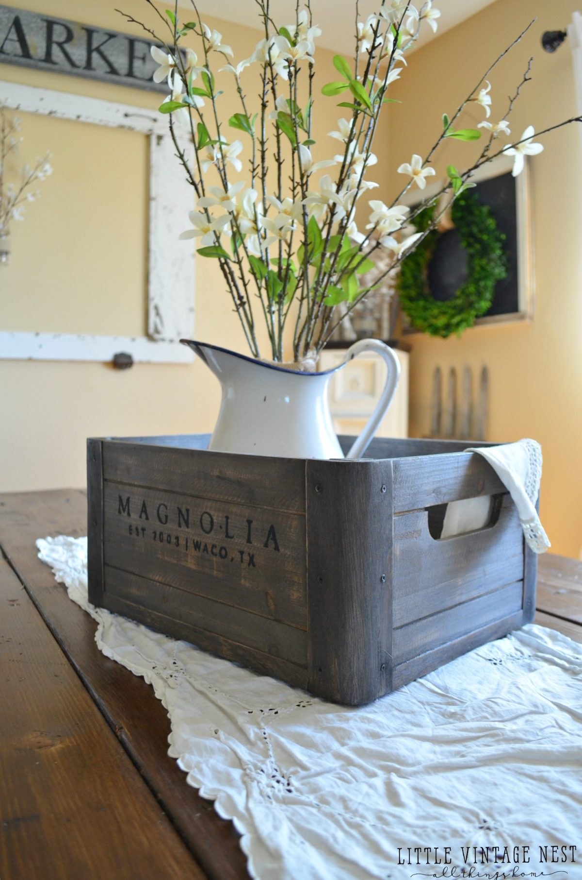Ways to style a wooden crate little vintage nest