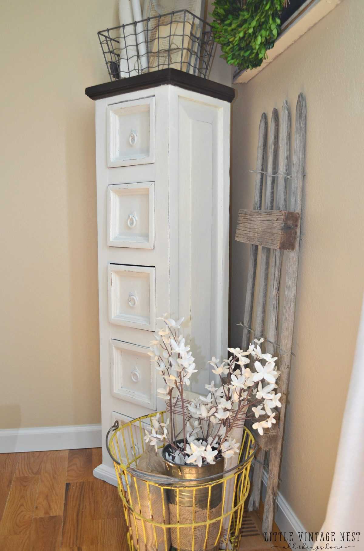 Farmhouse Dining Room Storage Cabinet - Little Vintage Nest