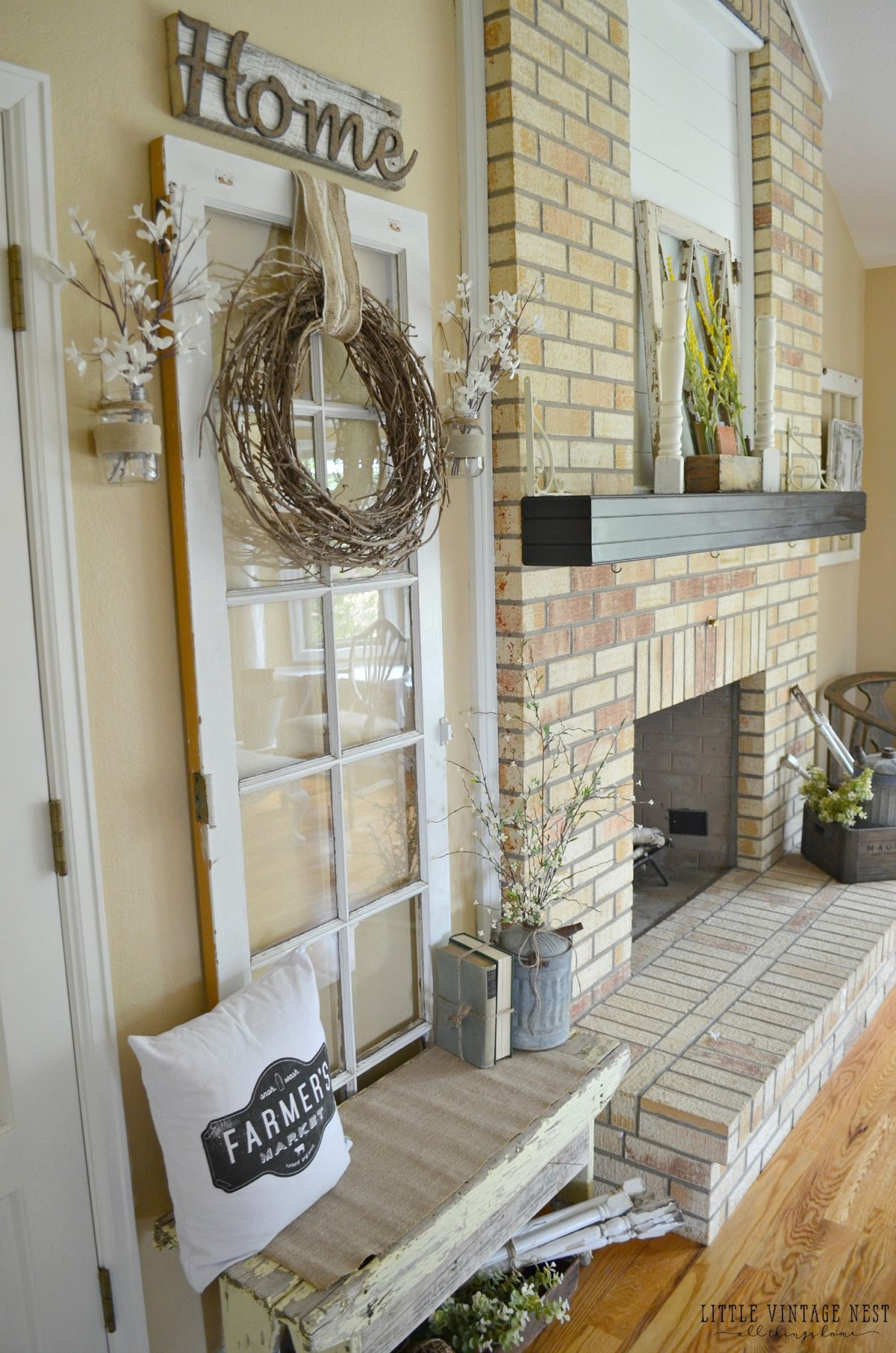 Vintage Inspired Entryway