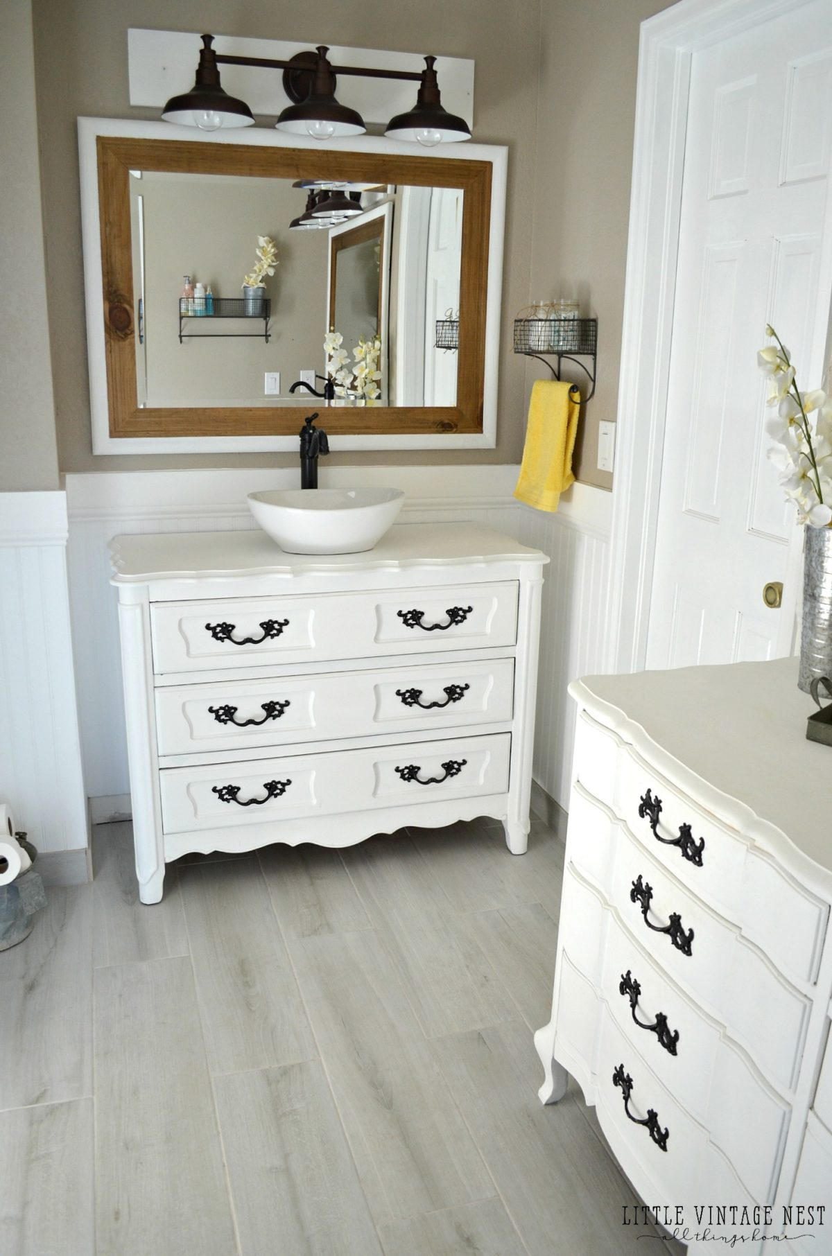 Old dresser turned bathroom vanity tutorial Used bathroom vanity with sink