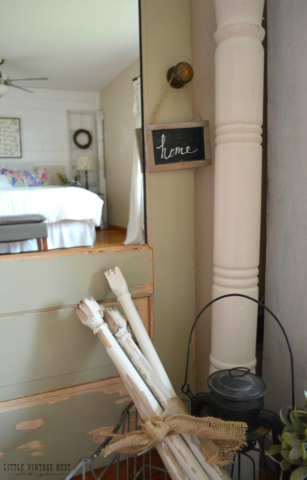 Old Door Turned Full Length Mirror Little Vintage Nest