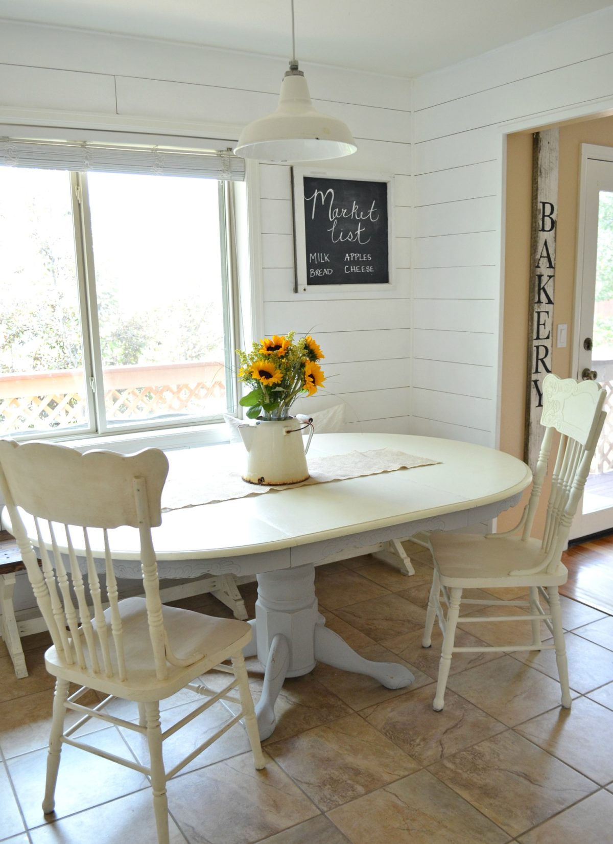 Breakfast Nook And Painted Antique Dining Table