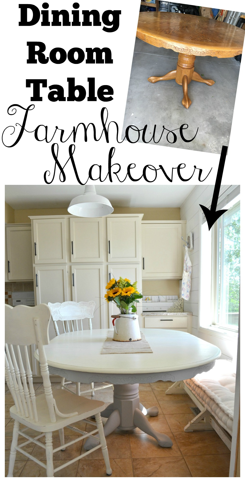 Chalk paint dining table makeover little vintage nest dining room table farmhouse makeover watchthetrailerfo