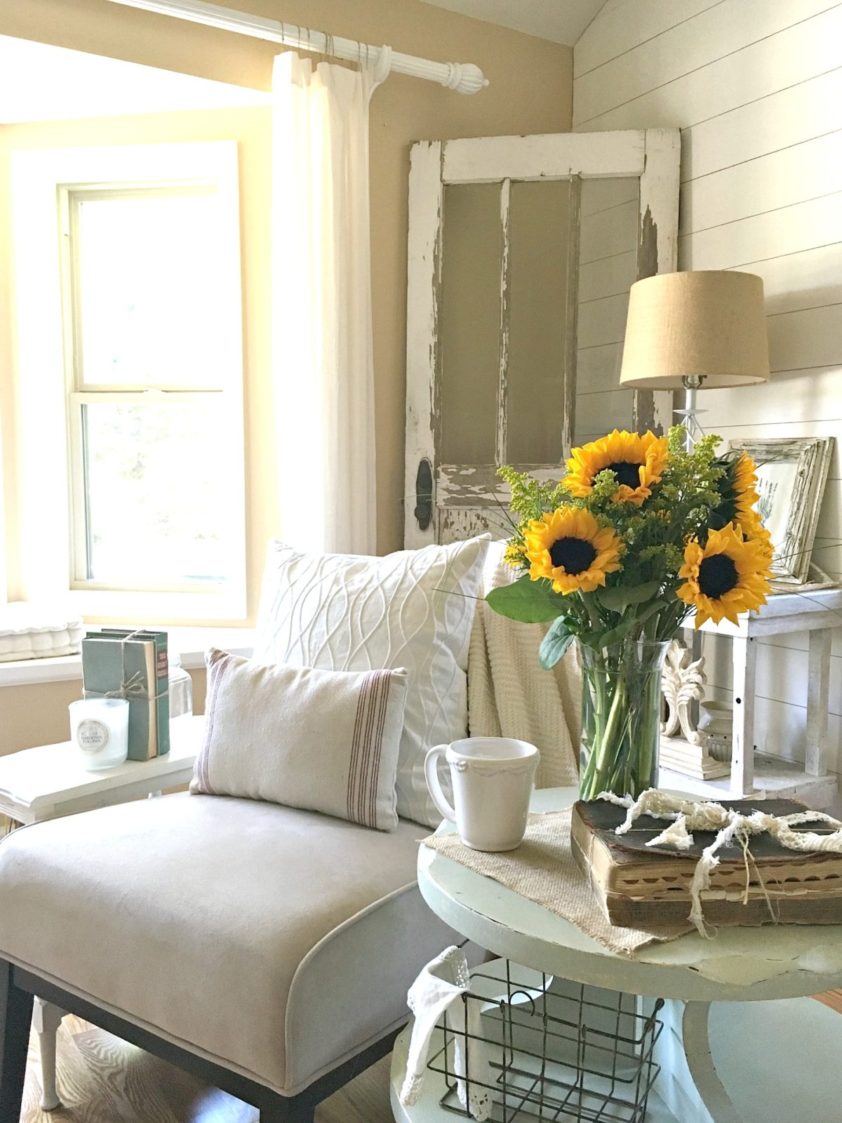How i transitioned to farmhouse style little vintage nest - Home decorating basics style ...