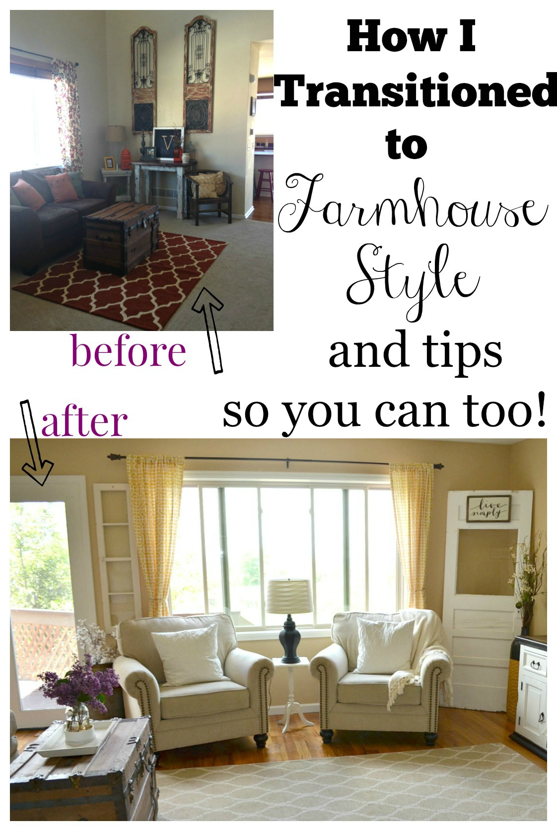How i transitioned to farmhouse style little vintage nest for Modern home decor market