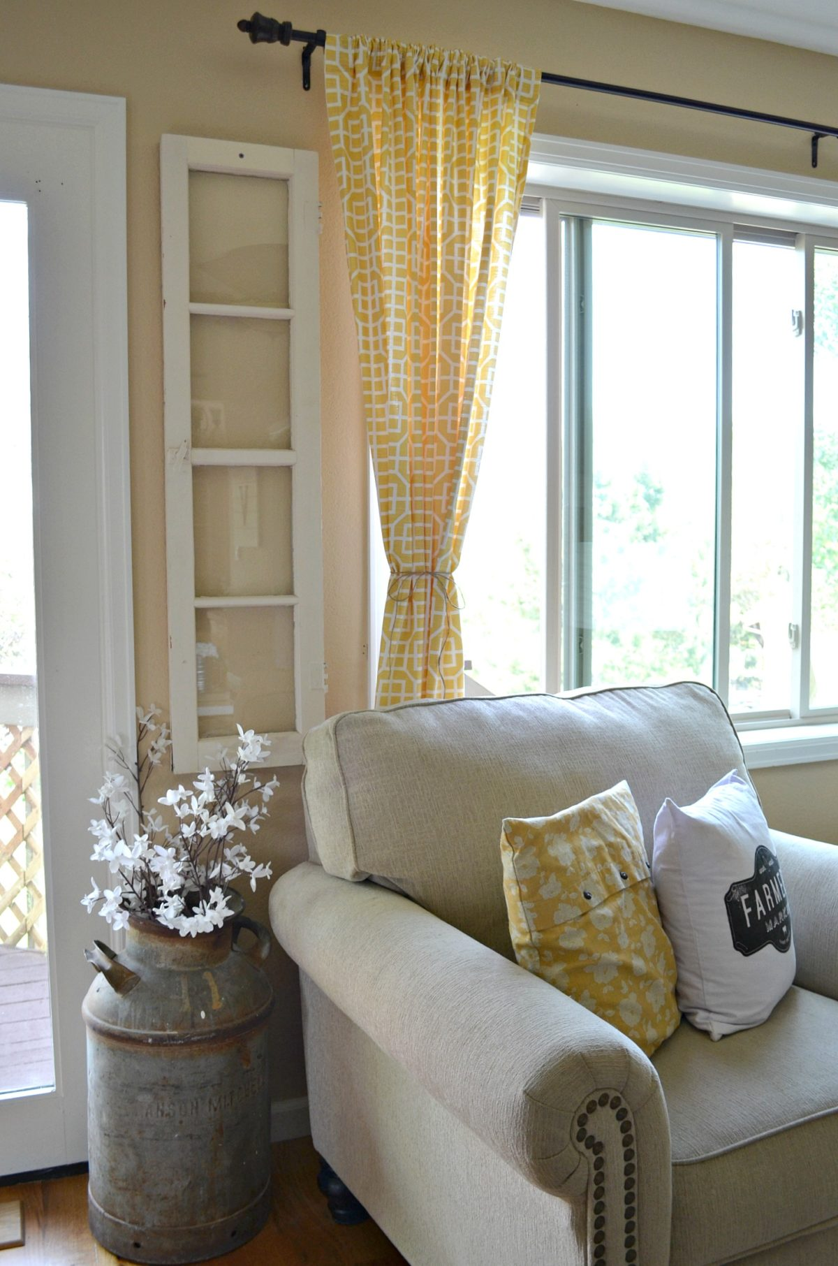 4 Reasons You Should Decorate with Old Windows - Little ... on Farmhouse Curtain Ideas For Living Room  id=28942