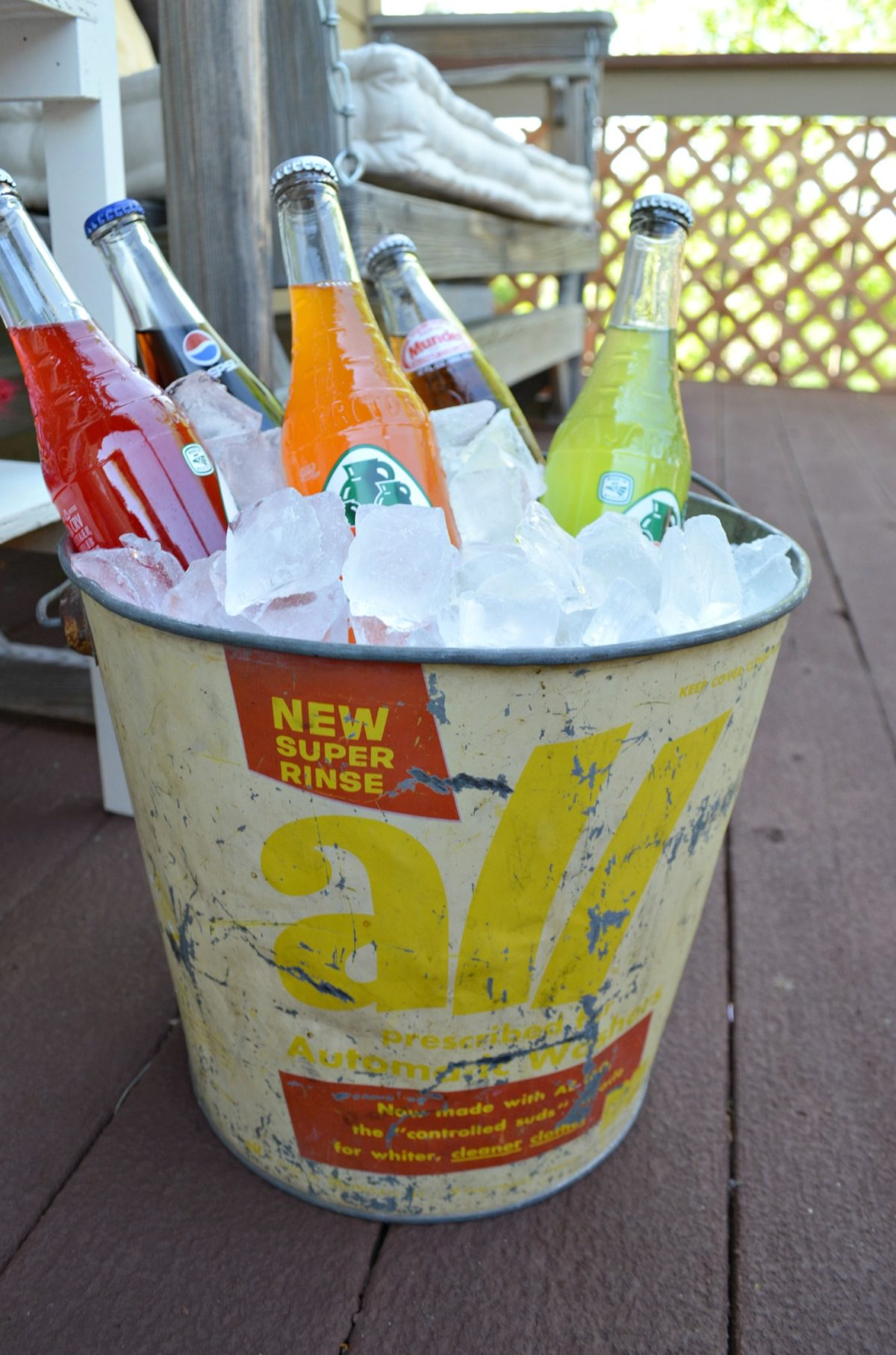 Vintage Bucket for Beverages