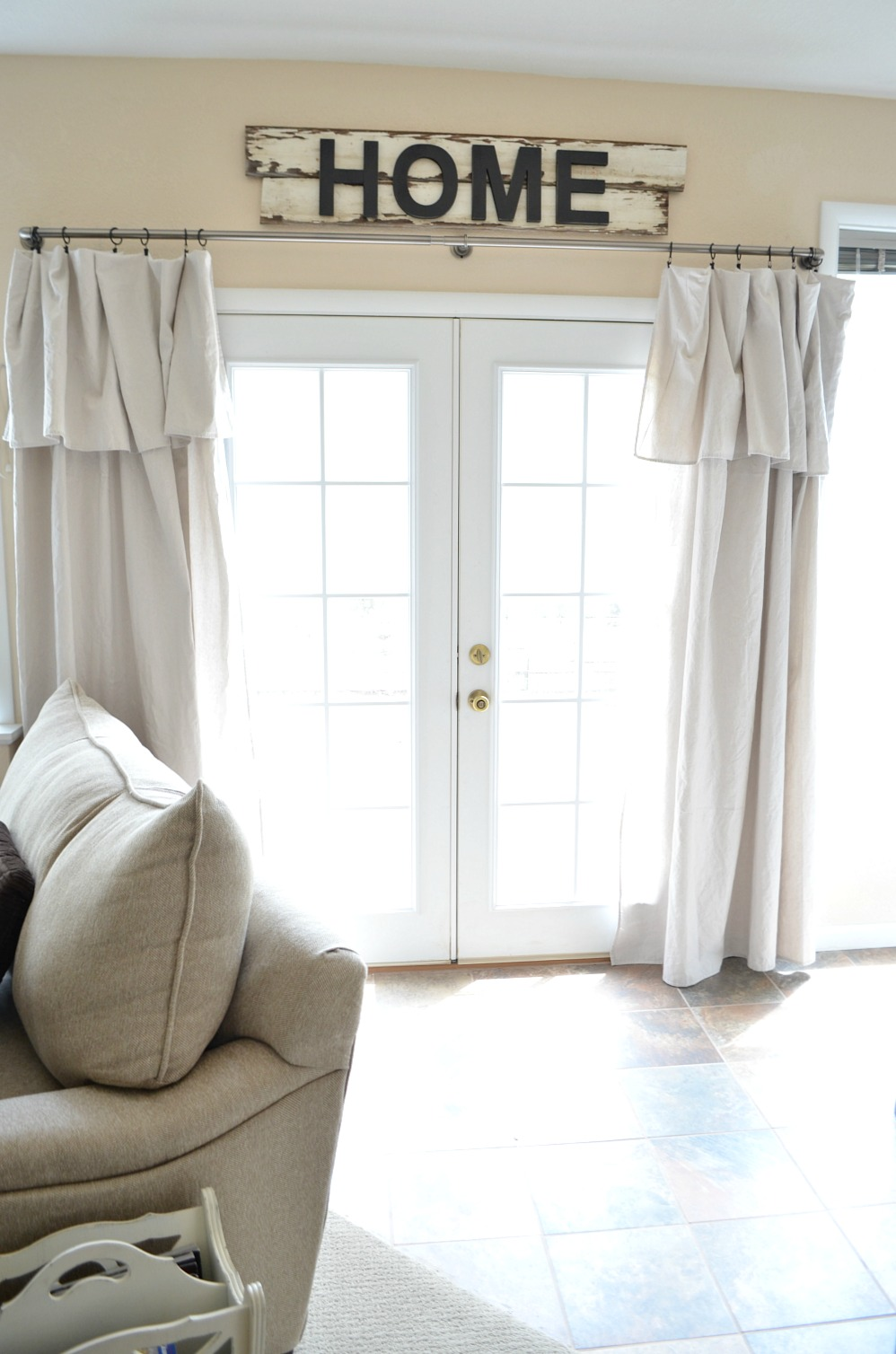 Drop Cloth Curtain Farmhouse Style Guide