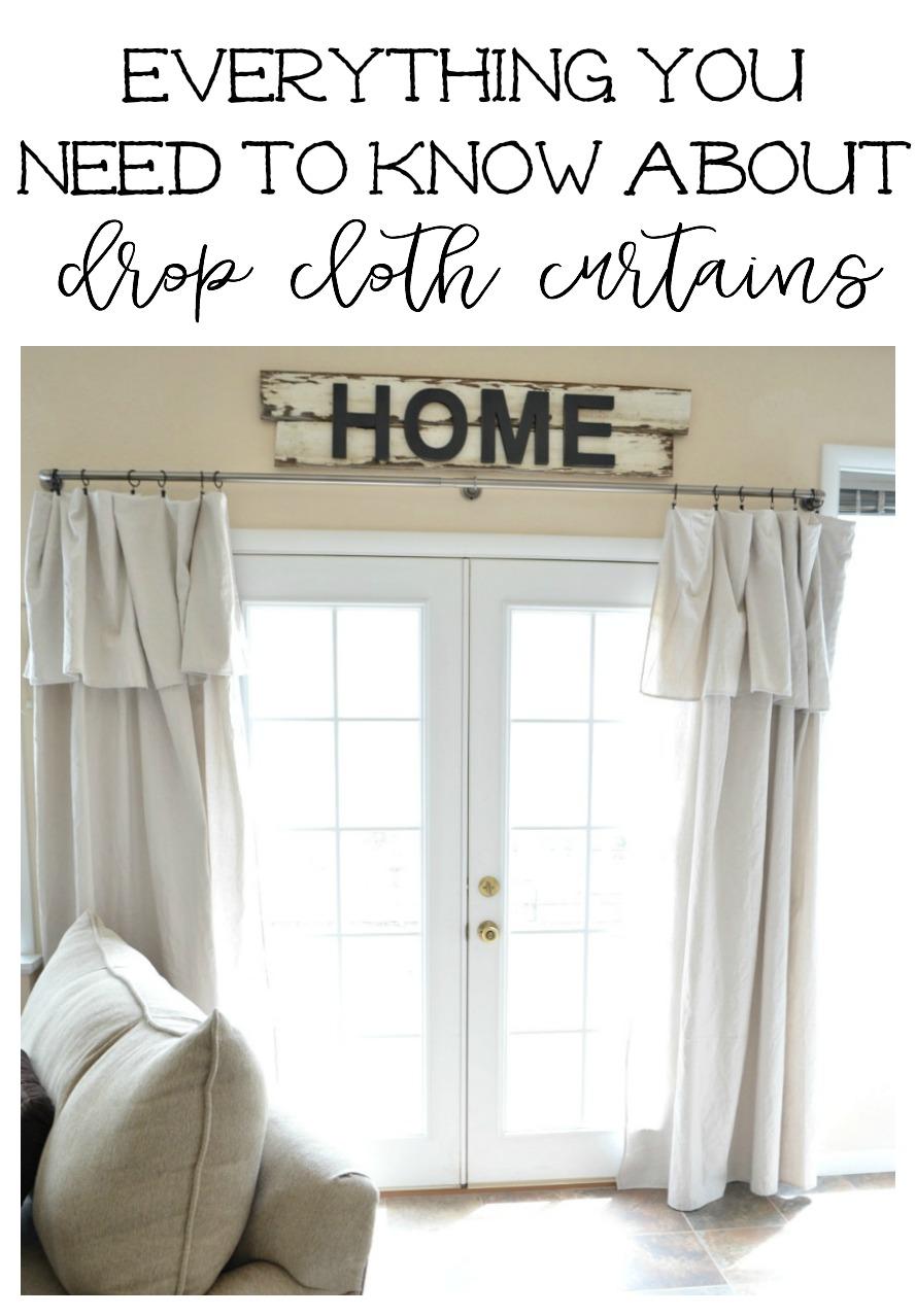 Little Vintage Nest Drop Cloth Curtains