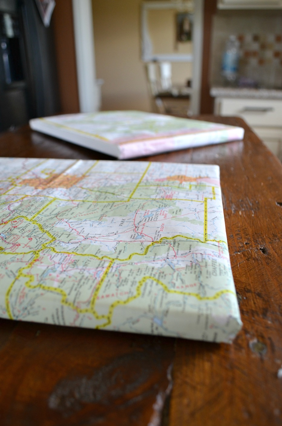 10 minute vintage map DIY