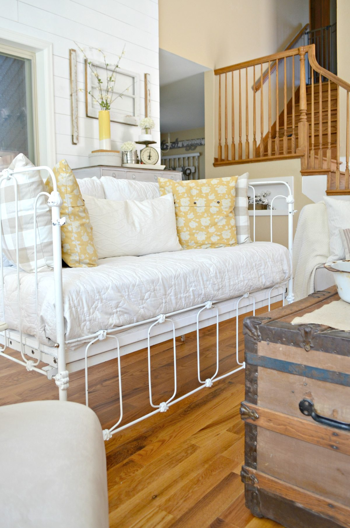 Vintage Crib Converted Into Couch Little Vintage Nest
