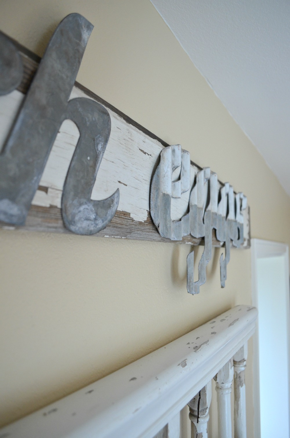 DIY Fresh Eggs Sign with Galvanized Metal Cutouts