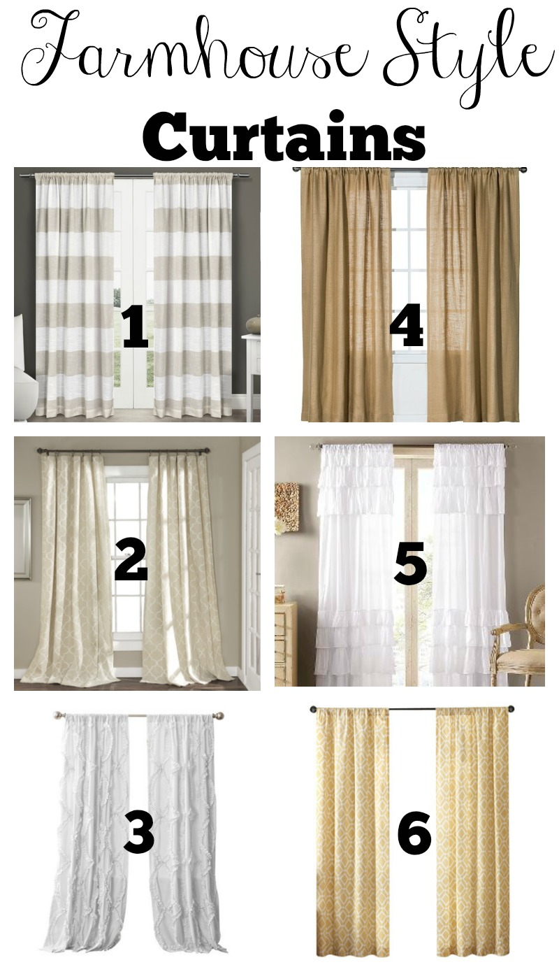 Farmhouse Style Living Room Curtains