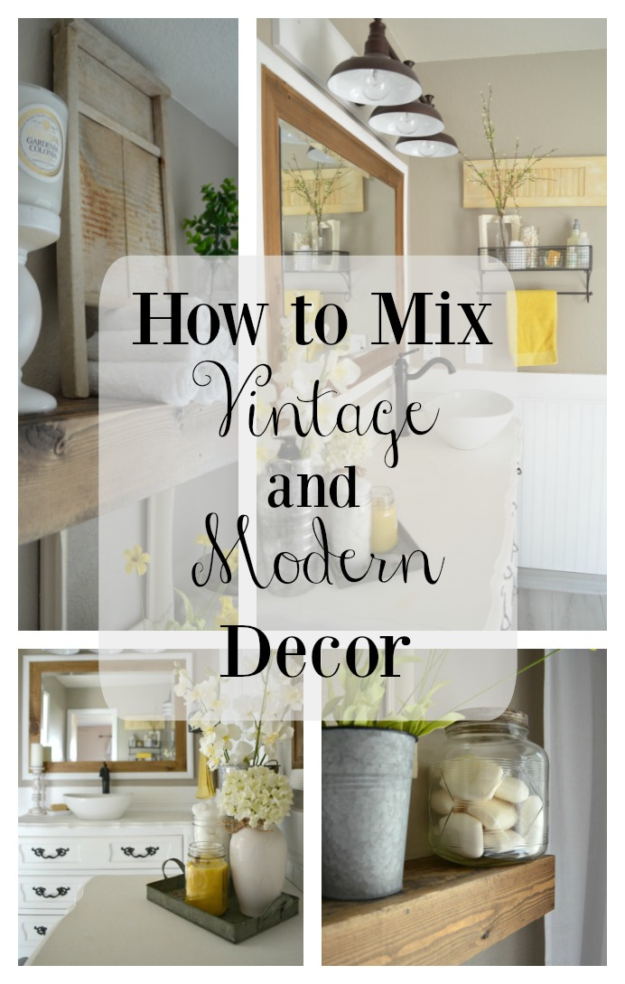 How to easily mix vintage and modern decor little for Modern antique decor