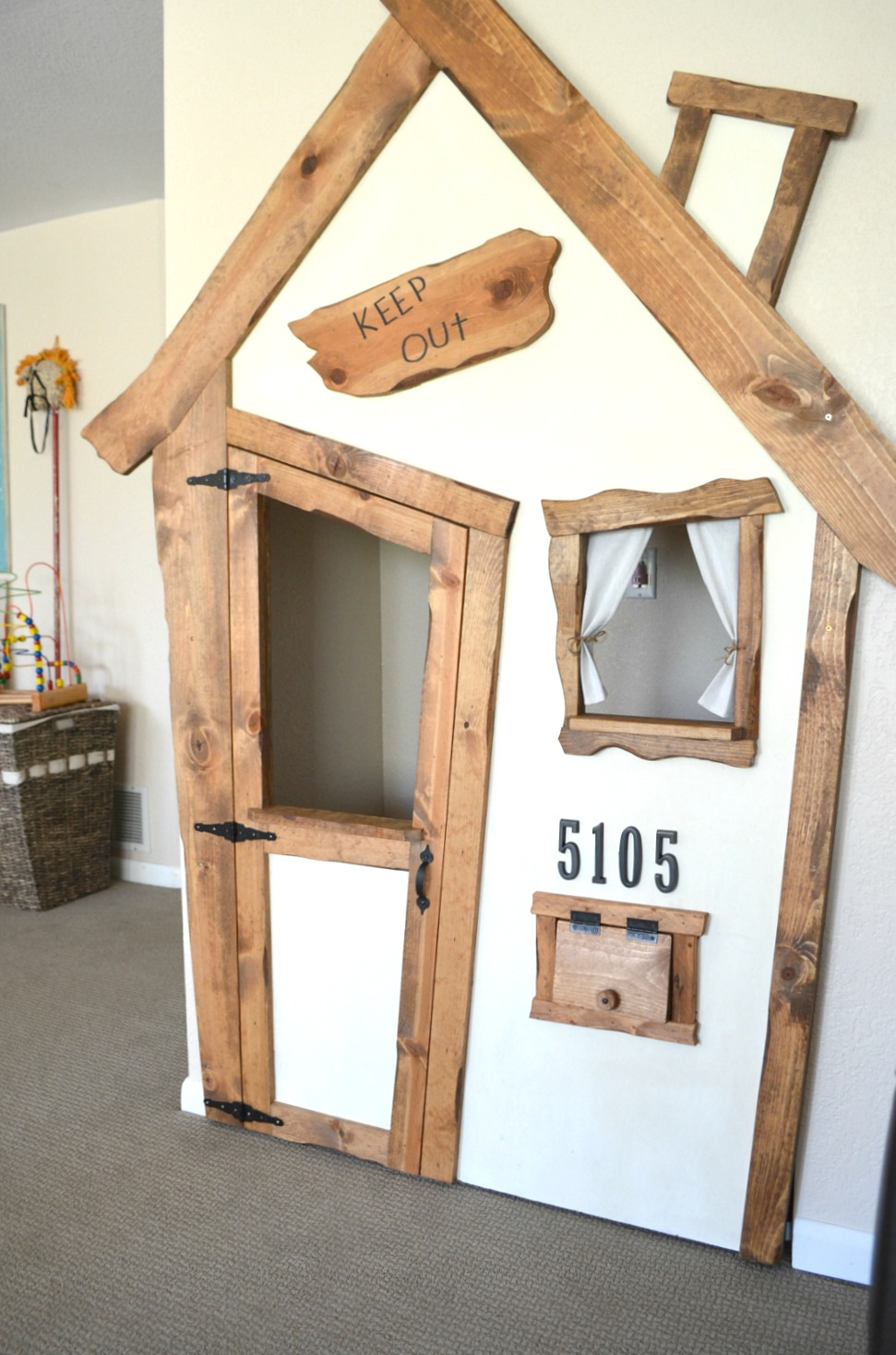 Diy indoor playhouse transformation little vintage nest for Diy indoor playhouse