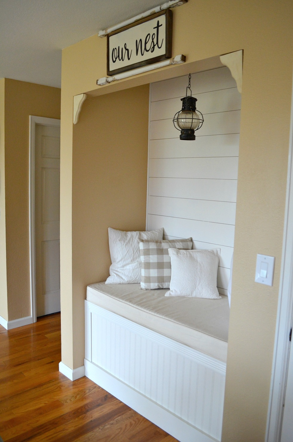 Spindles over Reading Nook