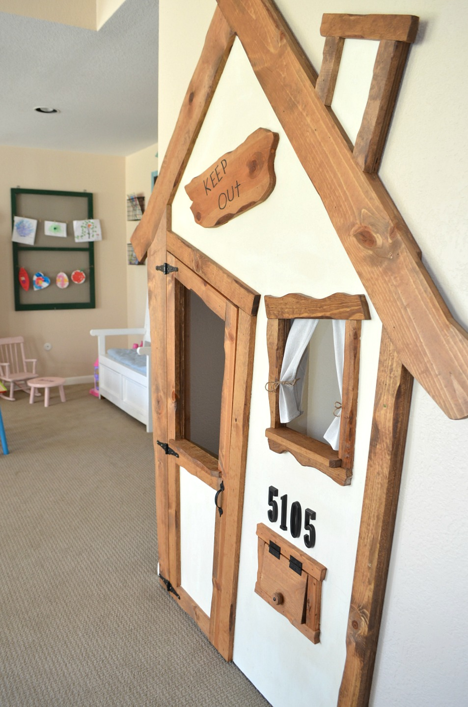 DIY Indoor playhouse