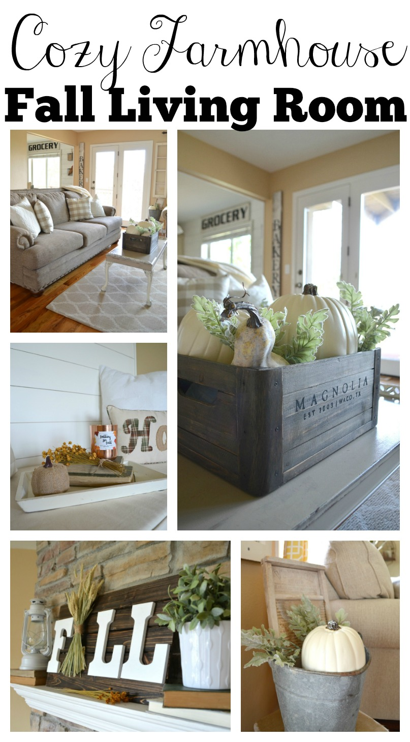 Fall Living Room Decor. Cozy Farmhouse Fall Living Room Tour  Little Vintage Nest