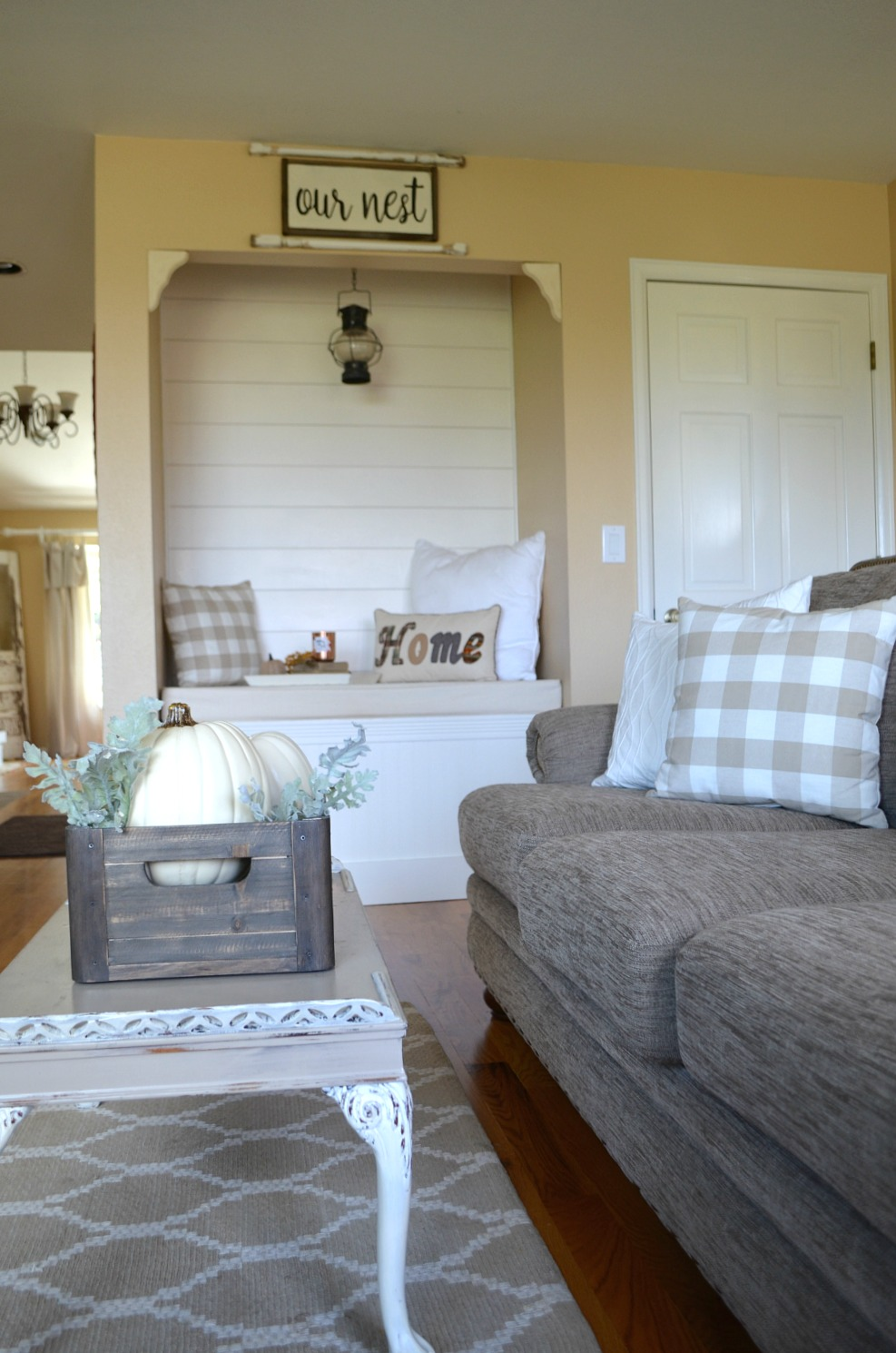 ... Cozy Farmhouse Fall Living Room Tour ...